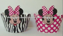 minnie mouse cupcake decorations MINNIE MOUSE CUPCAKE WRAPPERS Skirts COLLARS Wrappers Wraps