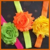 Shabby flower headband trim