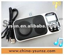 2012 newest super slim mini speaker with super bass sound