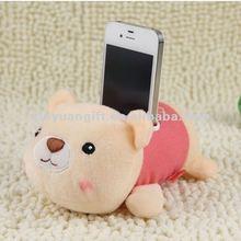 cartoon plush toy desktop cell phone holder