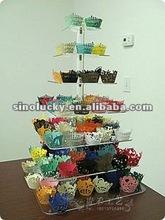 acrylic cake shelf
