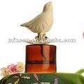 Fragancia difusor de cerámica blanca con botella de vidrio ámbar, La decoración del hogar