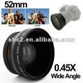 lente granangular de 0.45X 52m m con la macro para Nikon D40/D60/D70s/D3000/D3100/D5000