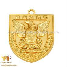 Gold plated metal key tag/key fob/keys