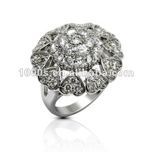 Indian Rose Cut Diamonds Jewelry,Silver Ring