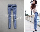 2012 Fashion Women Custom Skinny Blue Jeans