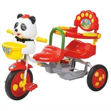 double kids metal tricycle double seat tricycle