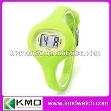 Sports narrow strap silicone watch digital movement
