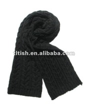 hot selling knit acrylic scarf for 2012
