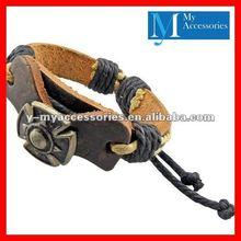 Fashion elegant leather bracelet for man 2012