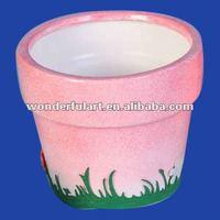 cheap pink ceramic flower pot