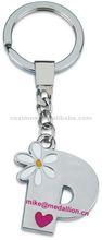 P shape metal stainless key fob