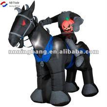 Hallooween decoration Headless knight on horse