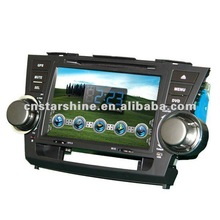 (Factory price)XS-8081:7' car dvd player for TOYOTA HIGNLANDER, GPS, bluetooth, ipod cable