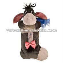 Plush Eeyore Head Christmas Stocking