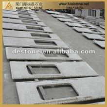 Prefabricated Tiger Skin White Granite Countertops Single Whole