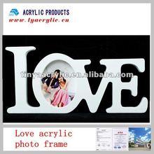Acrylic decorative love shape wedding photo frame