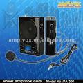 Portátil mini amplificador de voz com usb& tf leitor de cartão, gravação pa-300