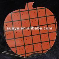 Apple shape acrylic jewelry display(earring)