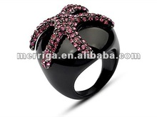 2012 fashion jewelry female big rhinestone ring