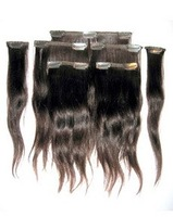 Ease Use Real Human hair clip in hair extensions