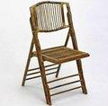 bambu e rattan cadeira dobrável