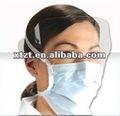 máscara branca não tecida descartável livre do protetor de cara do látex da fibra de vidro para o nível do filtro do uso cirúrgico e médico sobre 95%