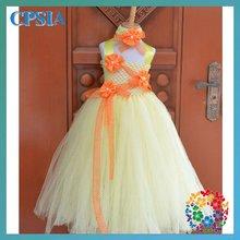 Top 2012 fashion flower girl dress Baby styplish Tutu dress with match headband set
