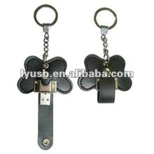 keychain leather usb 4gb,usb flash memory leather 4gb,leather usb keychain 4gb