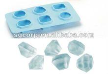 silicone diamond ice cube tray