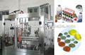 Automático leche fresca jugo líquido de bebida de yogur de llenado de bolsas y máquina del lacre del papel y procesamiento de lácteos planta