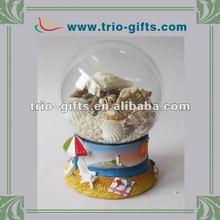 Decorative customized clear glass balls snow dome