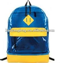 fashion transparent PVC backpack bag
