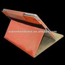 PU Leather Cover Case for iPad 2 3 orange
