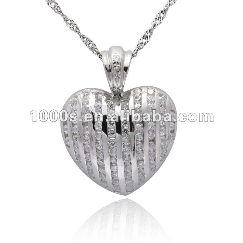 Silver Heart Locket Pendant, View large metal heart pendant, 1000s