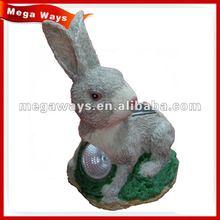 lovely little white rabbit statues for garden decoration