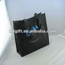 2012 black non-woven advertising shopping bags manufacture