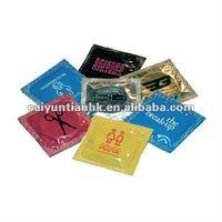 Colorful & reliable printed plastic aluminum foil condoms packaging bag