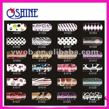2012 Fashionable beautiful nail polish patch