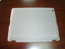 hot selling Plastic case for new iPad/iPad2,white,Plastic material,Rubber coating