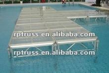 Aluminum Organic Plexiglass Stage/Mobile Stage/Aluminum Stage Deck