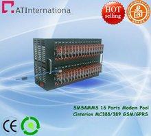 Dual-band Cinterion MC388/389 GSM/GPRS 16 Channels Modem Pool SMS&MMS USB Interface