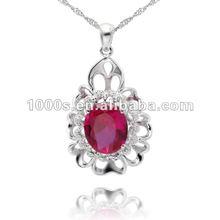 Elegant Silver Quantum Stone Pendant