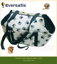 2012 warm soft fabric pattern plush dog bag