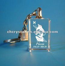 12 star sign key chain crystal