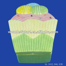 2012 new fashion pottery box shaped candy pot