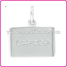 zinc alloy laptop with jump ring charm (H103336)