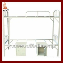 Elegant commercial double decker bed with wardrobe