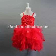 F034 Real Sample Fshion Ballet Children Dress Flower Girl Dress