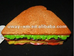 Rubber beef sandwich toys for puppy soft chew